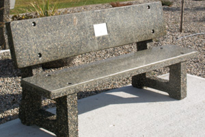 Concrete Park Bench