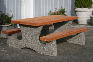 Concrete and Wood Picnic Table