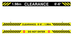 Maximum Clearance Signs