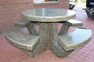 Round Concrete Picnic Table