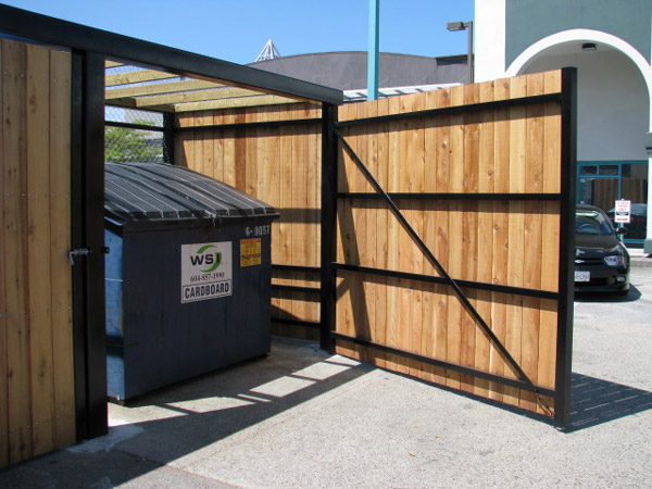 Steel Framed Garbage Enclosure